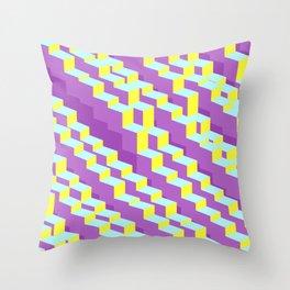 Cubic stairways Throw Pillow