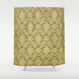 Sixteenth century textile by Cheney Brother. American fine decoration. Shower Curtain