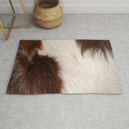 Animal Fur Brown And White Rug