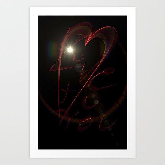 Love To You Art Print