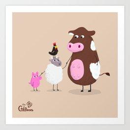 We Farm Animals Should Stick Together Art Print