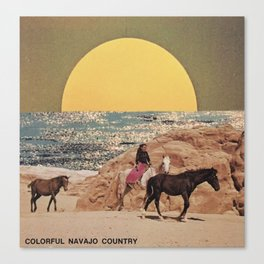 Navajo Sun Canvas Print
