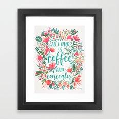 Coffee & Concealer – Juicy Palette Framed Art Print