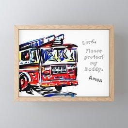 Protect The Protectors Framed Mini Art Print