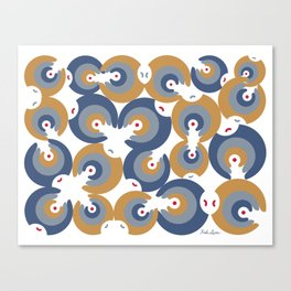 Mano Semilla/Hand Seed--Blue Canvas Print