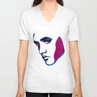 elvis V-neck T-shirts featuring ELVIS by HAUS OF DEVON