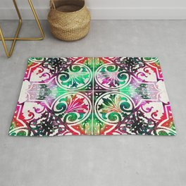 Bright Colorful Pattern Art - Color Fusion Design 10 By Sharon Cummings Rug
