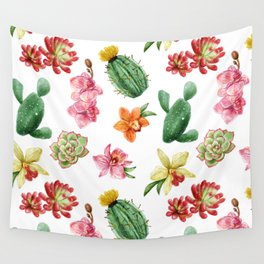 Watercolour Cactus Wall Tapestry