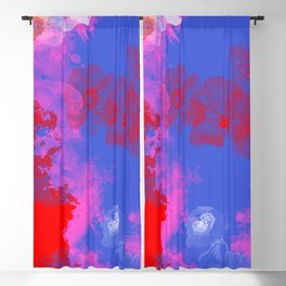 Scarlet on blue Blackout Curtain