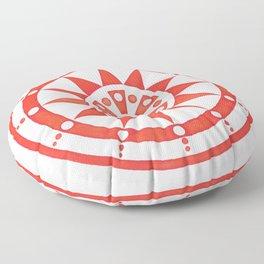 Radial Design Red No. 2 Floor Pillow