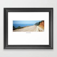 ROAD BLUE Framed Art Print