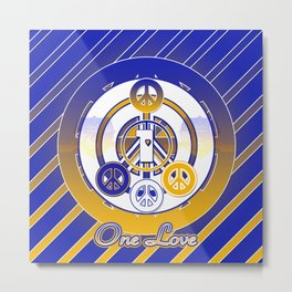 One Love (Blue) Metal Print