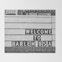 Welcome to Harlem Throw Blanket