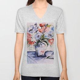 spring flower buquet in aquarell Unisex V-Neck