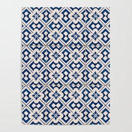 Blue Portugal Tiles #3 Poster