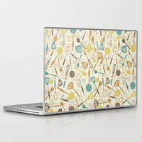 kitchen Laptop & iPad Skins featuring Kitchen Utensils by Anna Deegan