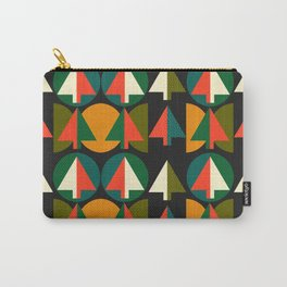 Retro Christmas trees Carry-All Pouch