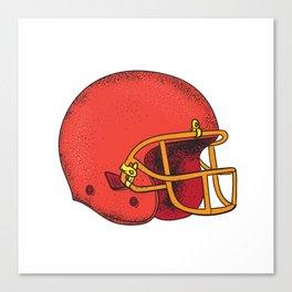 American Football Helmet  Tattoo Canvas Print