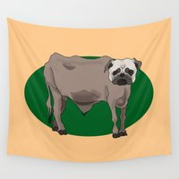 bulldog Wall Tapestries featuring BullDog by Chris Talbot-Heindl
