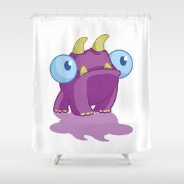 PURPLE PETE Shower Curtain