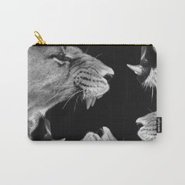 Lion B&W Carry-All Pouch