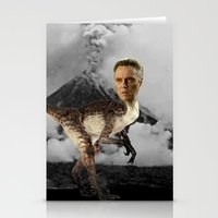 christopher walken Stationery Cards featuring ChristopheRAPTOR Walken - Christopher Walken Velociraptor by Kalynn Burke