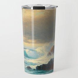 Vintage Ocean Oil Painting Travel Mug