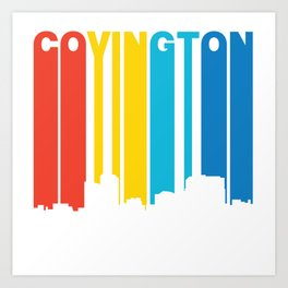 Retro 1970's Style Covington Kentucky Skyline Art Print