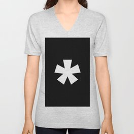 Asterisk (White & Black) Unisex V-Neck