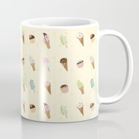 dessert Mugs featuring Dessert Yellow by Olya Yang
