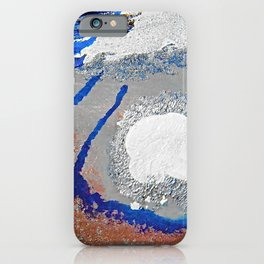 The Path - an abstract, textured piece in neutrals by Jacob von Sternberg Art iPhone Case