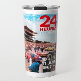 24hs Le Mans 1967, vintage poster Travel Mug
