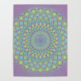 Purple Spirograph Mandala 0118 Poster