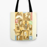 parks and rec Tote Bags featuring Parks & Rec by Florey