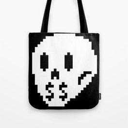 8bit money skull Tote Bag