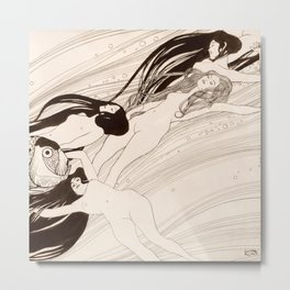 "Gustav Klimt ""Fish Blood"" Metal Print"