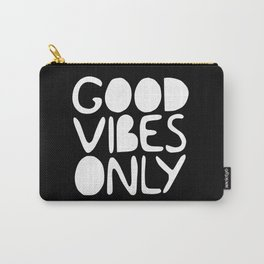 GOOD VIBES ONLY (black) - Handlettered typography Carry-All Pouch