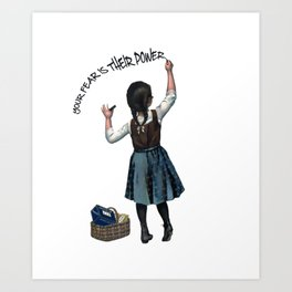 Banksy Ocasio-Cortez Resist Protest USA Art Print