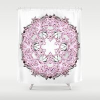 circle Shower Curtains featuring Circle by AstridJN