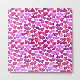 Valentine Day  romantic hearts Metal Print