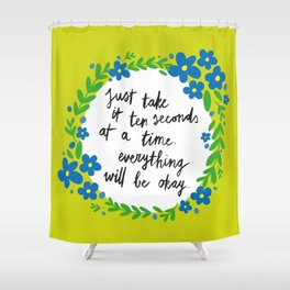Ten Seconds - Lime Shower Curtain