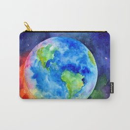 Watercolor painting of Earth Carry-All Pouch