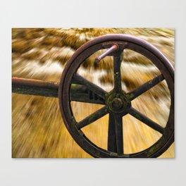 old locks wheel Canvas Print