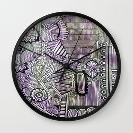 Abstract Crazy Doodle 2 Wall Clock