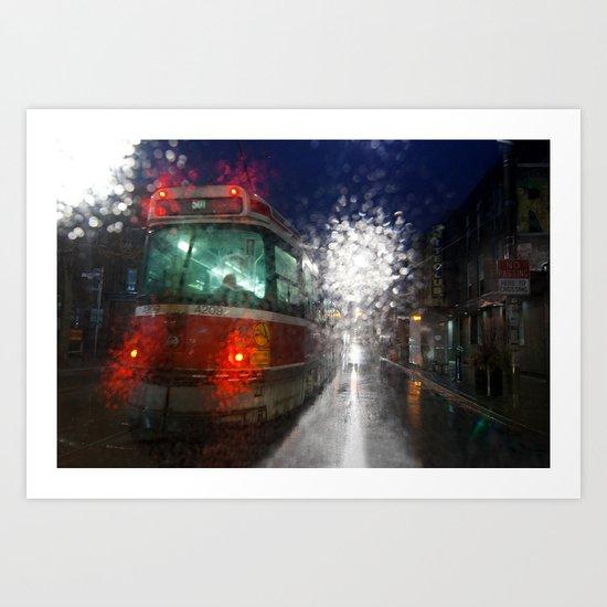Rain Rider Art Print