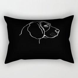 Beagle Dog Line-Art Rectangular Pillow