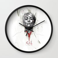 house of cards Wall Clocks featuring House of Cards - Claire Underwood by teokon
