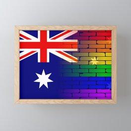 Gay Rainbow Wall Australian Flag Framed Mini Art Print