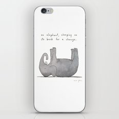 an elephant, sleeping on its back for a change iPhone Skin