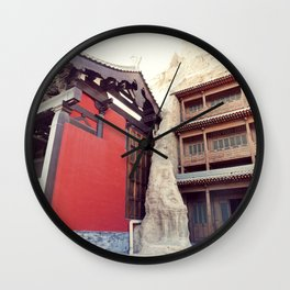 Chinese architecture Wall Clock